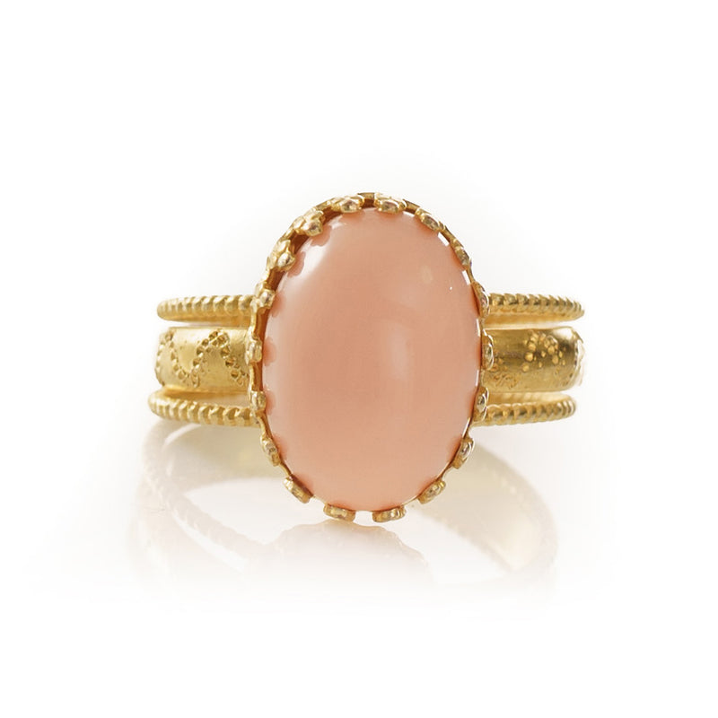 IRENE Adjustable Ring Coral
