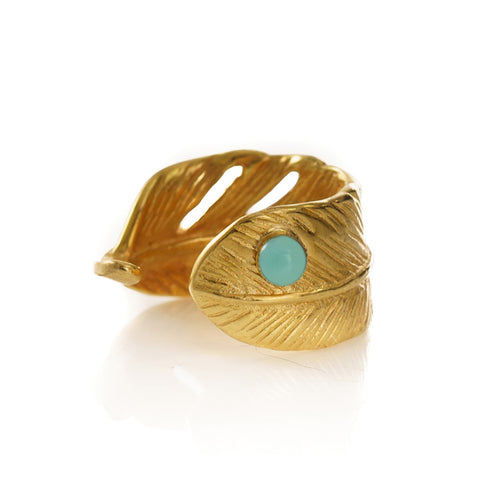ISIS Feather Ring Turquoise