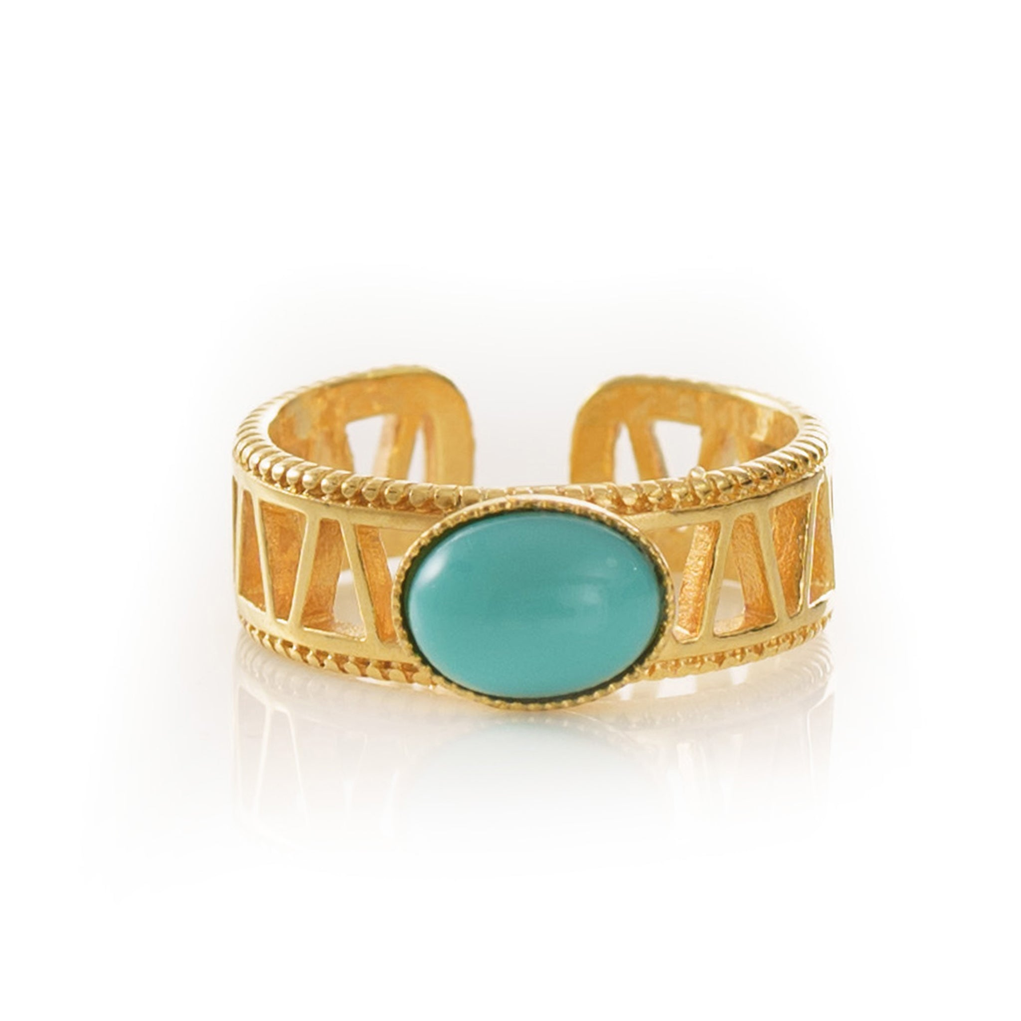 JANIS Adjustable Ring Turquoise