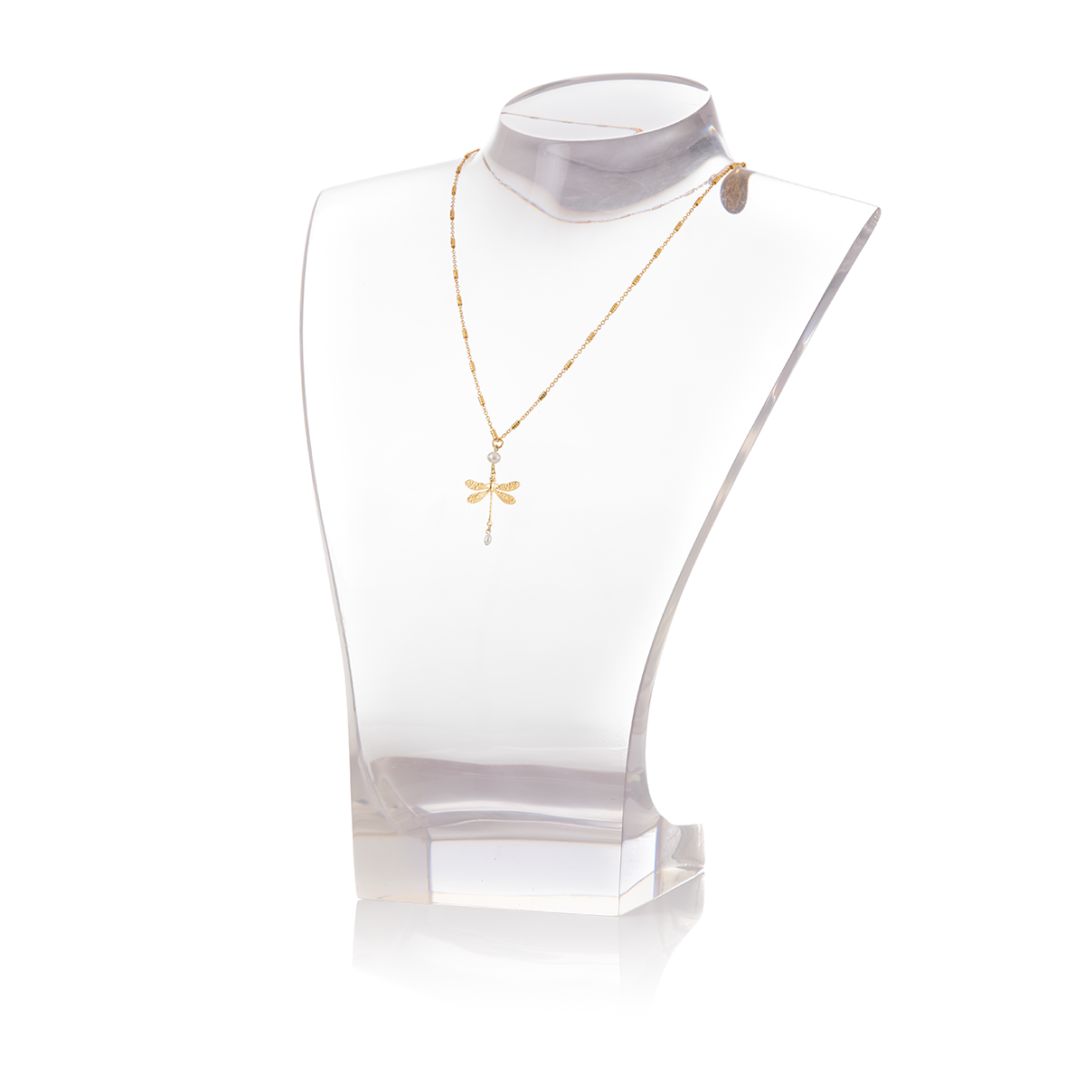 JEANNE Necklace Gold-Plated Dragonfly