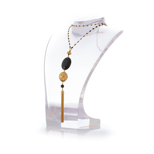 JUPITER Necklace Gold-Plated Black