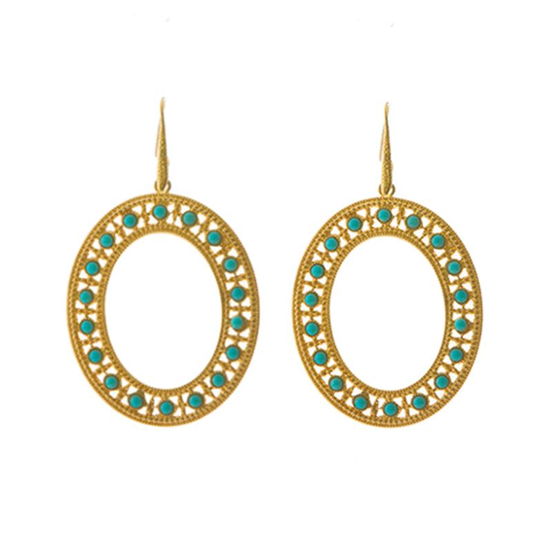 LUCINE oval earrings turquoise