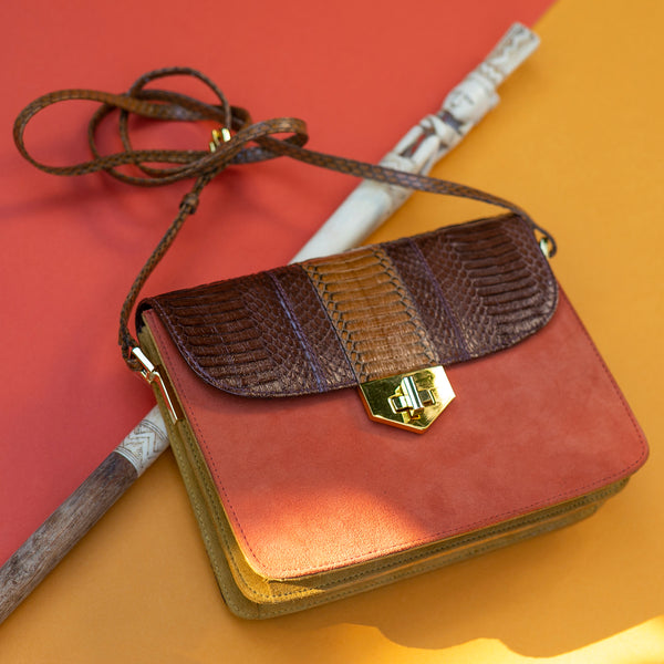 Crossbody bag LIM LE FO Brown and paprika