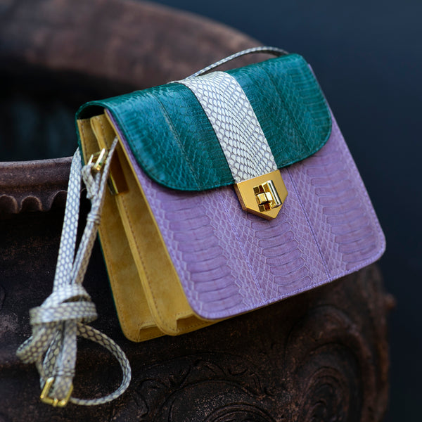 Crossbody bag LIM LE FO Orchid and green colour