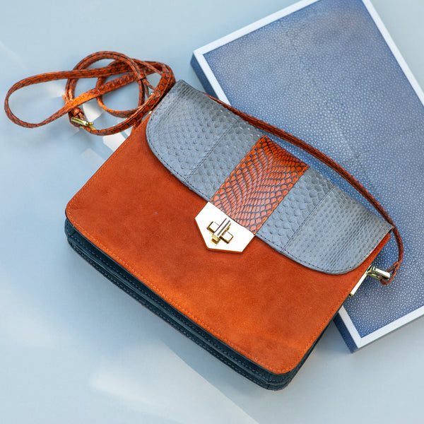 Crossbody bag LIM LE FO Open sky and paprika colour