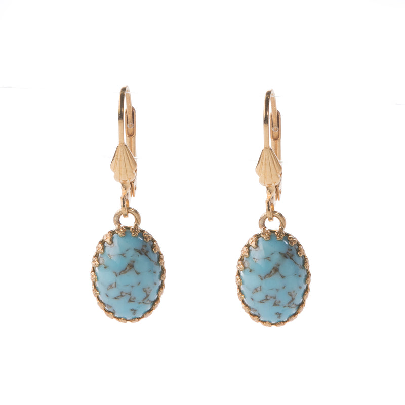 LOLA Gold Earring Murano Turquoise
