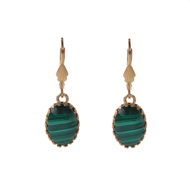 LOLA Gold Earring Malachite