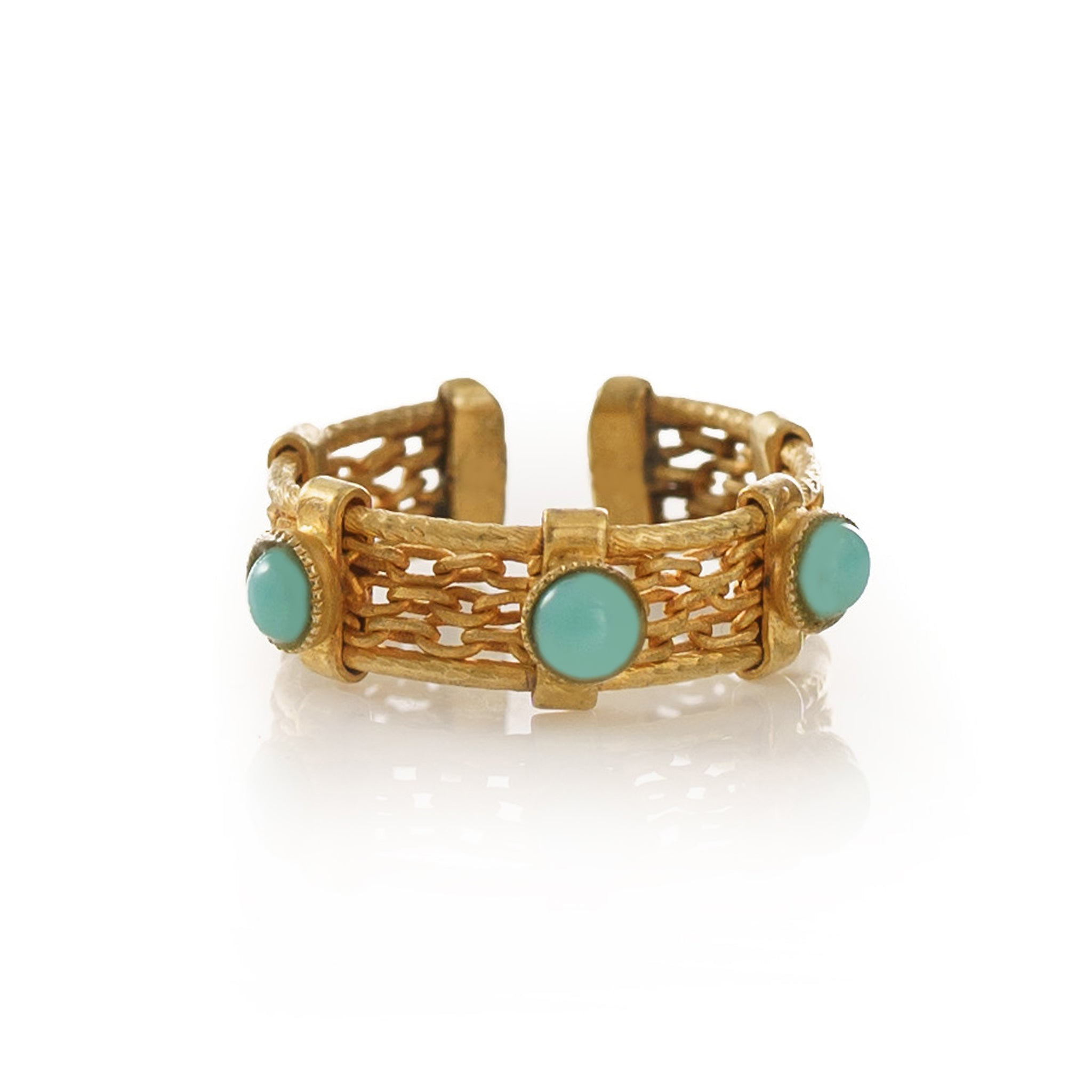 Luna Adjustable Ring Turquoise