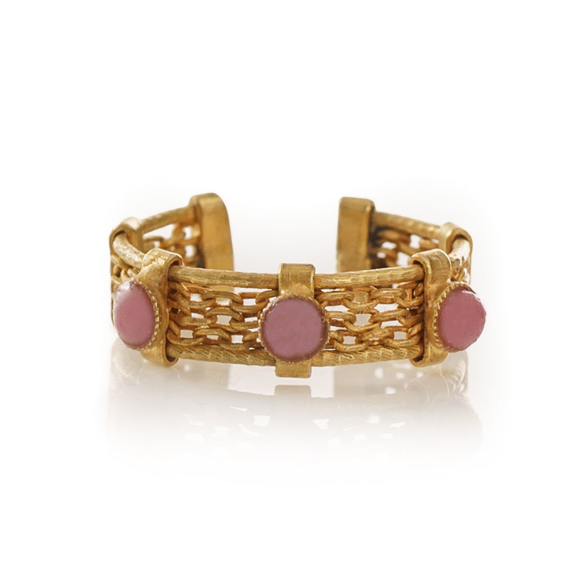 Luna Adjustable Ring Pink
