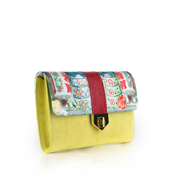 Singapore Story LUV YAH Clutch - 'Singapore Shophouse' LOUISE HILL for DARSALA