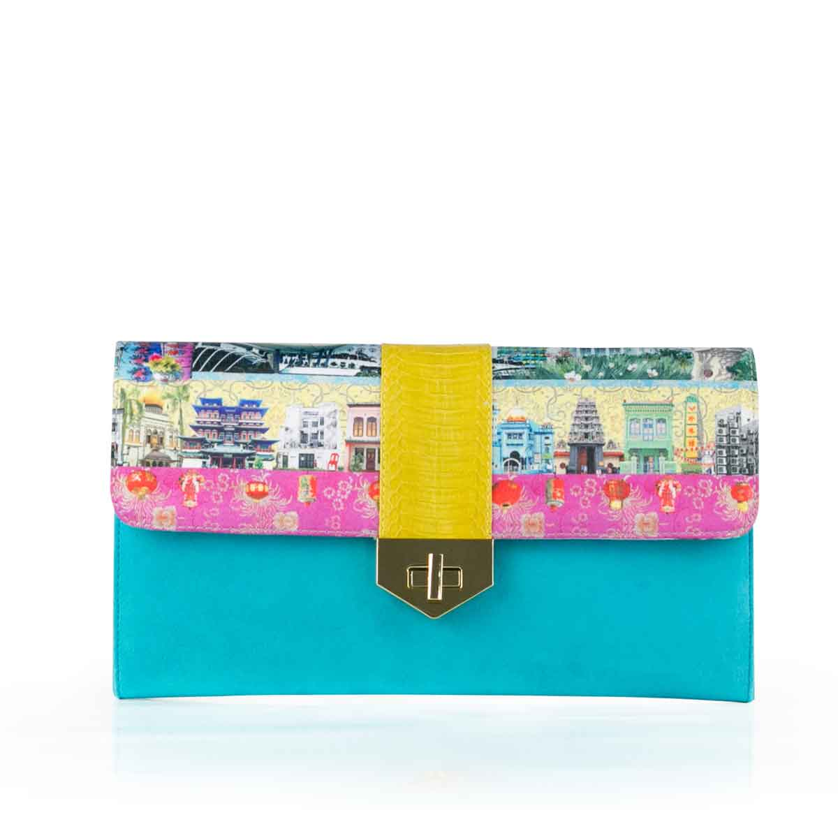 Singapore Story LUV YAH Clutch 'We Love Singapore' LOUISE HILL for DARSALA