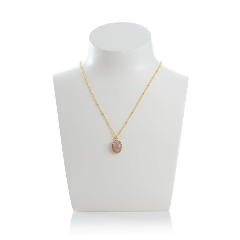 MEDICIS Vintage-inspired necklace Pink opal