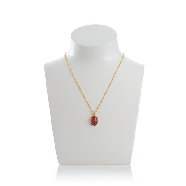 MEDICIS Vintage-inspired necklace Carnelian