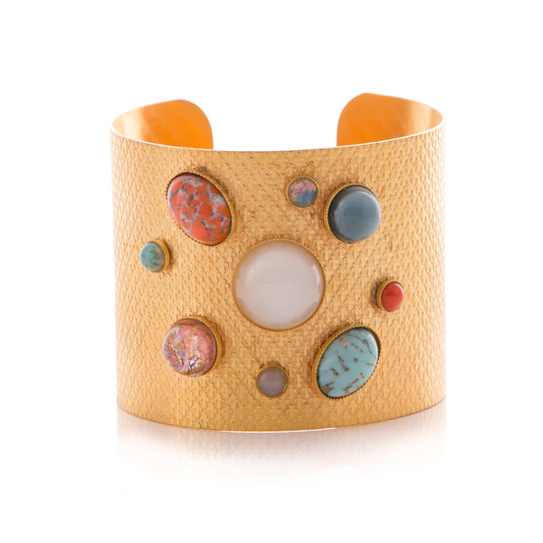 PHEBEE bracelet gold-plated multicolor cuff