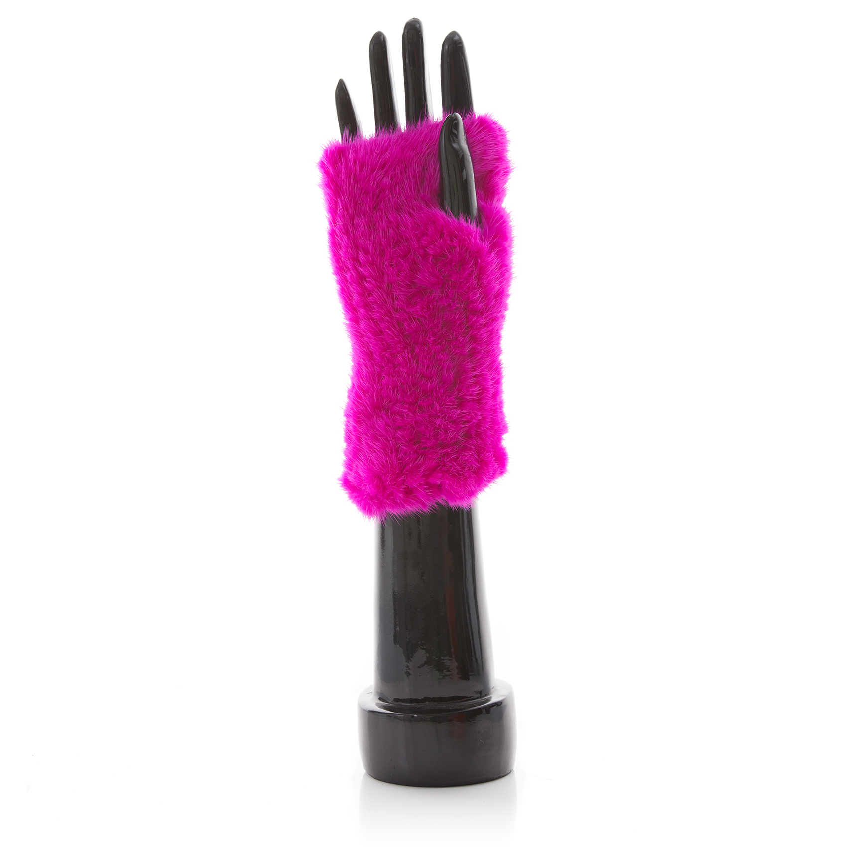 MEGEVE Fushia Knitted Mittens