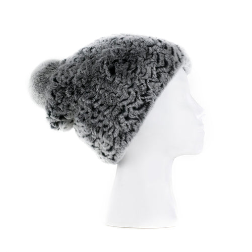 Darsala Grey Knitted Hat