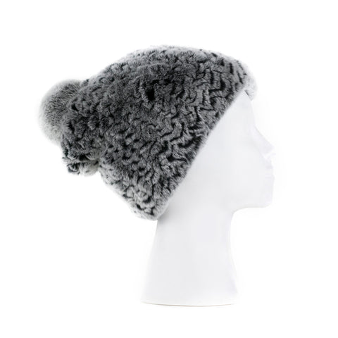 Verbier Grey Knitted  Hat