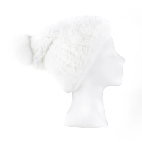 Darsala white Knitted Hat