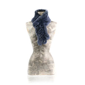 CHAMONIX Night Blue Knitted scarf