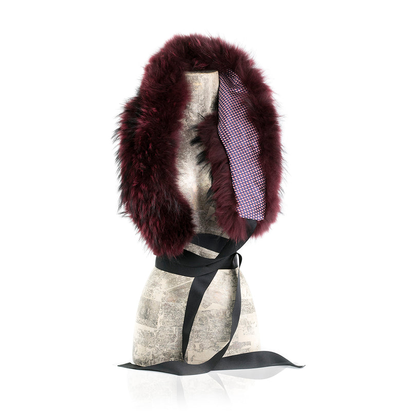 Zurs, Modular  Burgundy Fur Collar