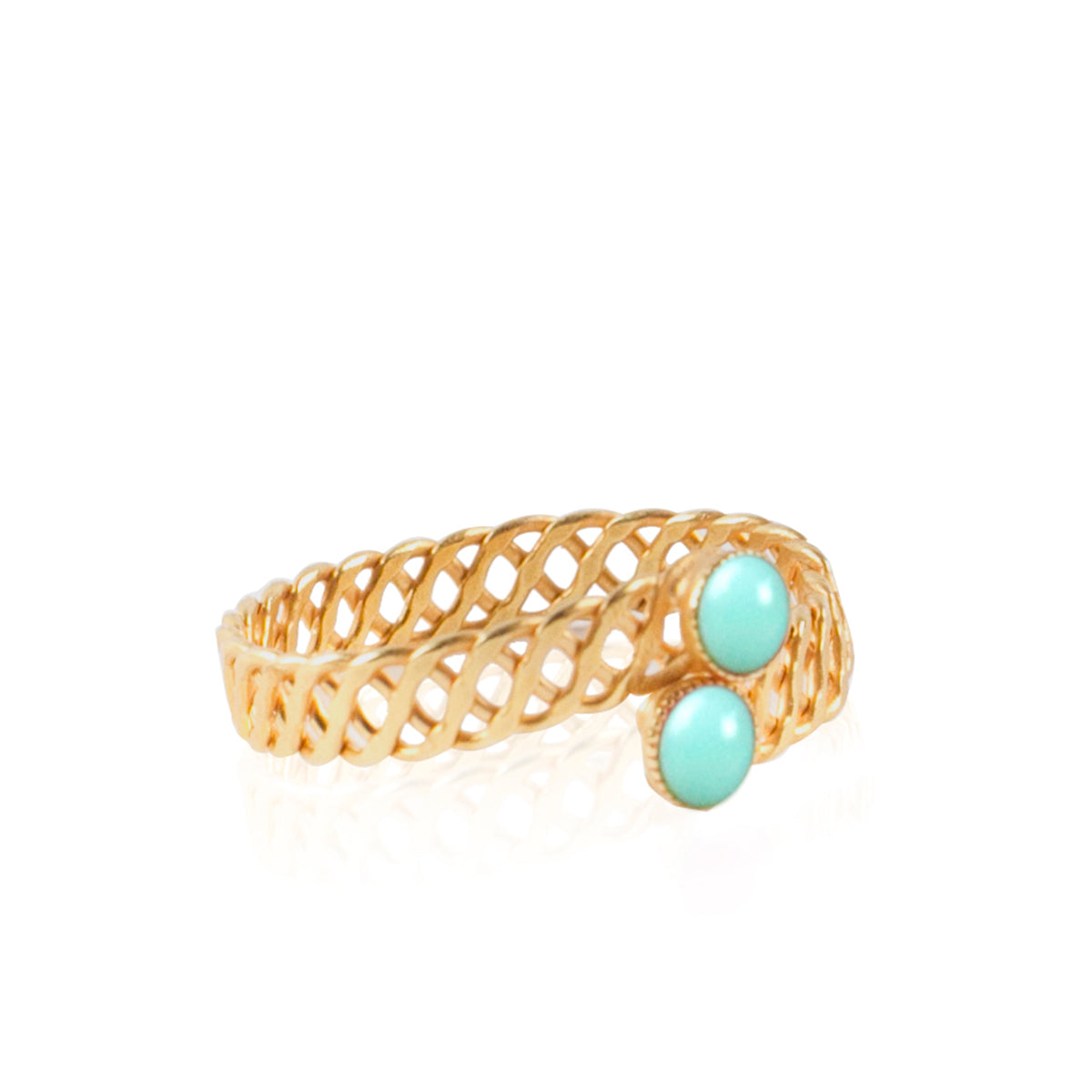 Halley Adjustable Turquoise Ring