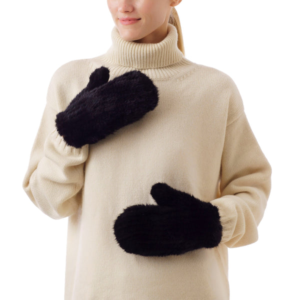 MAMMOTH Black Knitted Gloves