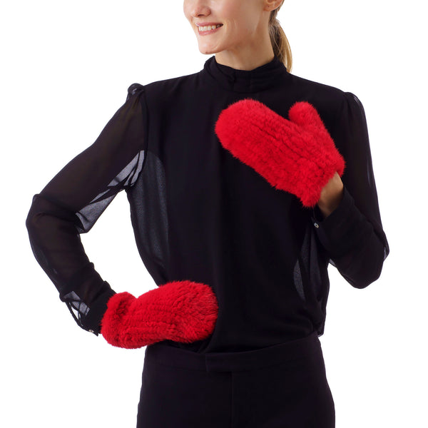 MAMMOTH Red Knitted Gloves