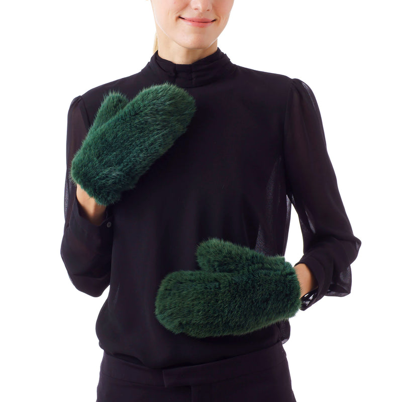 MAMMOTH Green KnItted Gloves