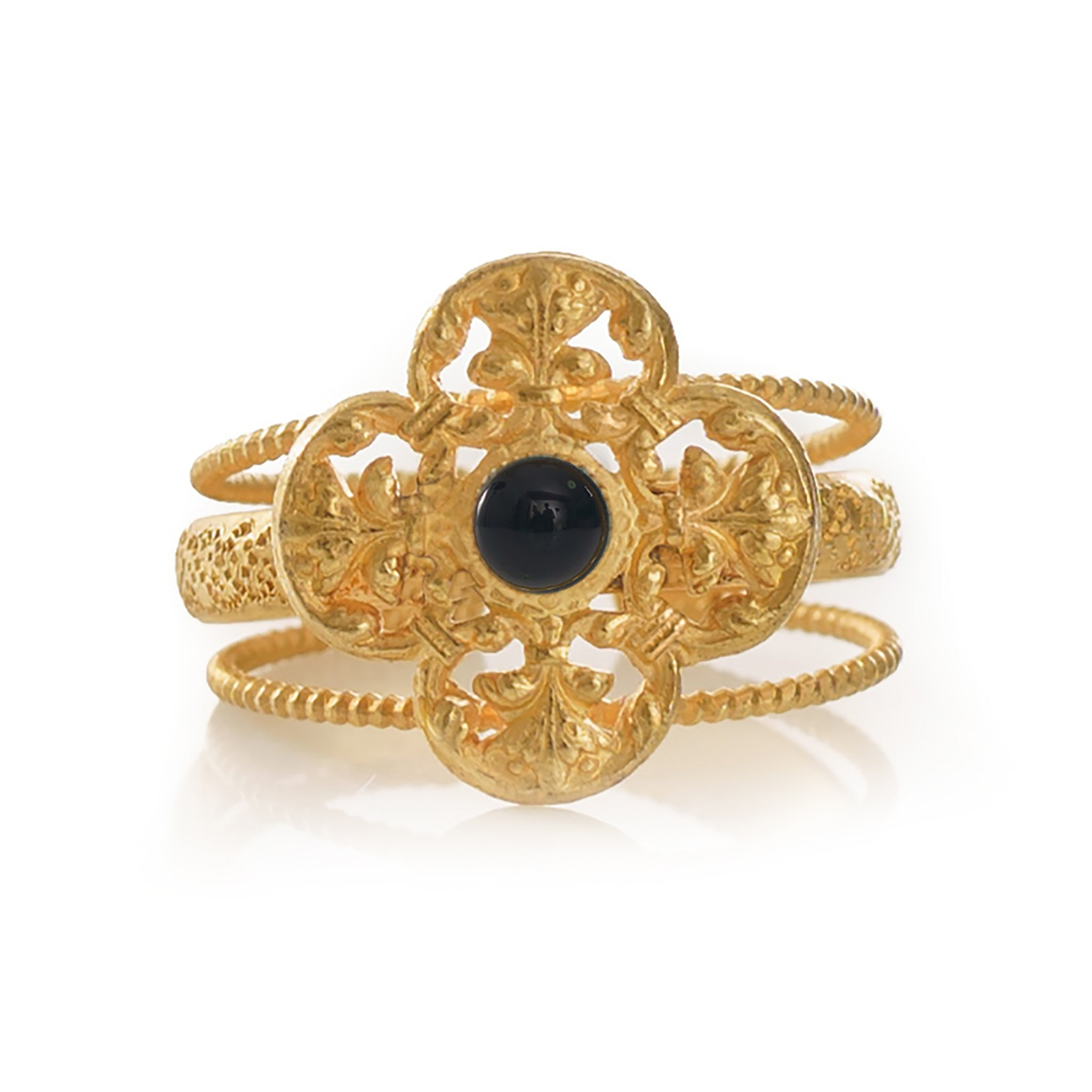 MONA Adjustable Ring Black