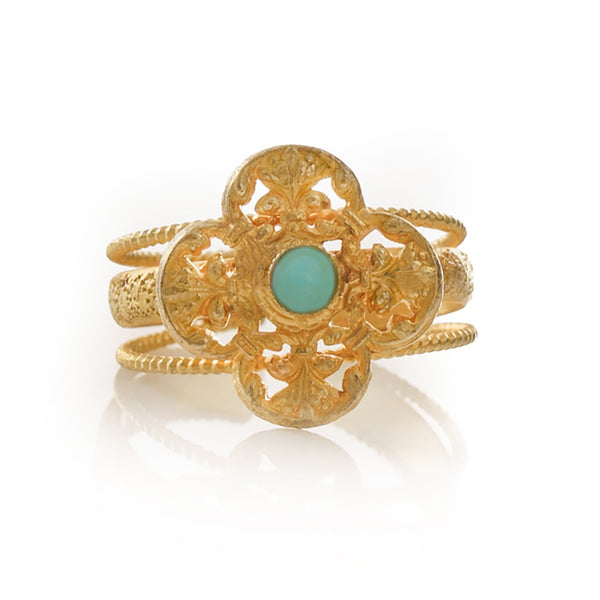 MONA Adjustable Ring Turquoise