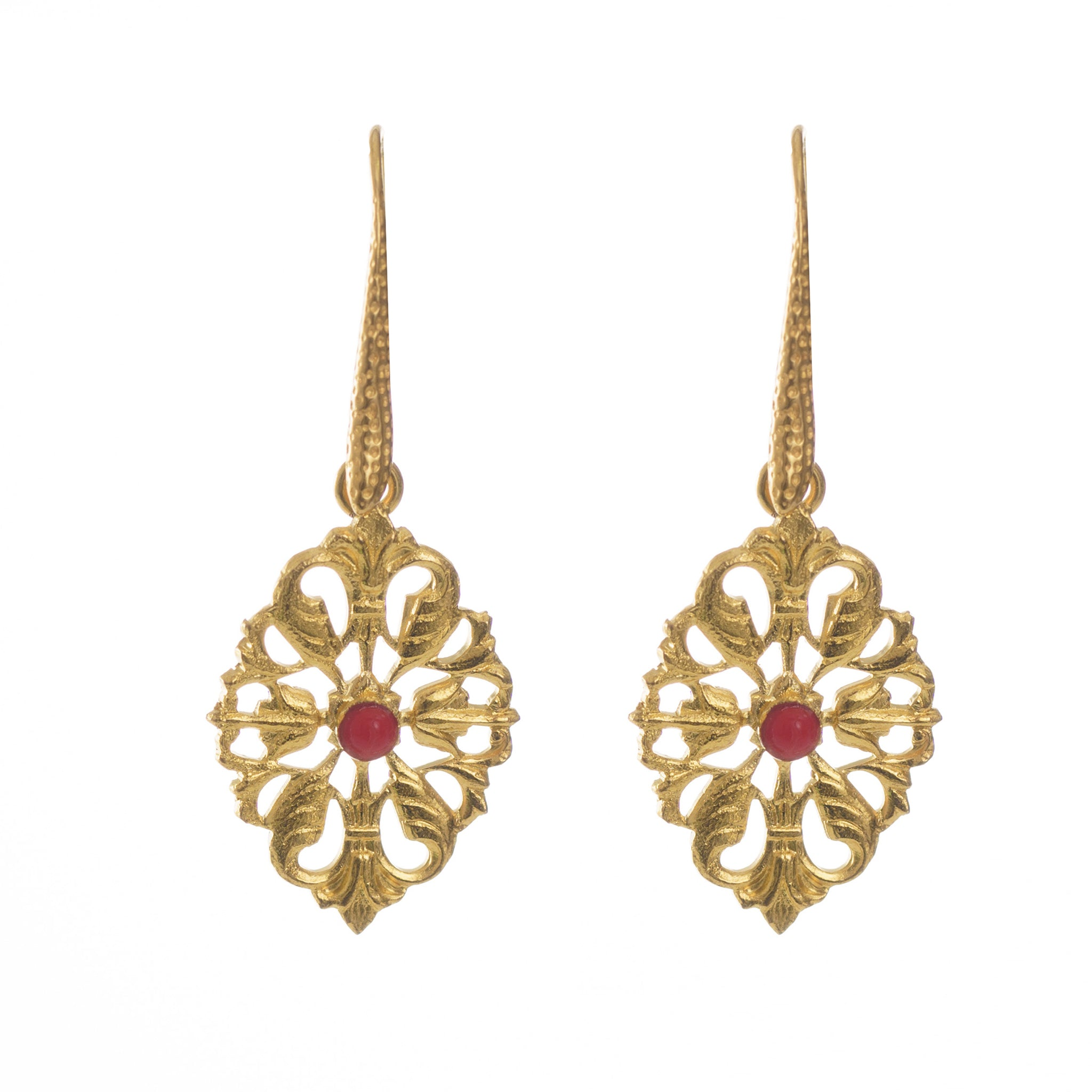 Nolan Red Vintage-Inspired Earring