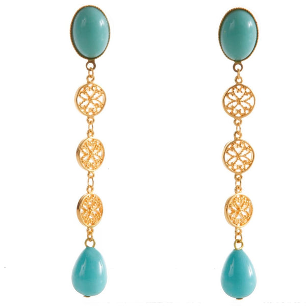 NOOR Earring Gold-Plated Turquoise