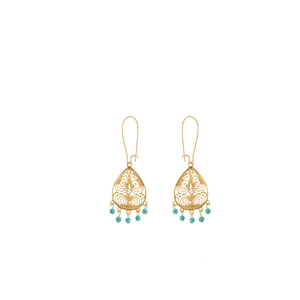 ONDINE Earring Gold-Plated and Turquoise
