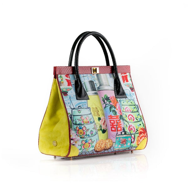 Singapore Story ONG SAN FU 'Singapore Shophouse' bag in collaboration with LOUISE HILL
