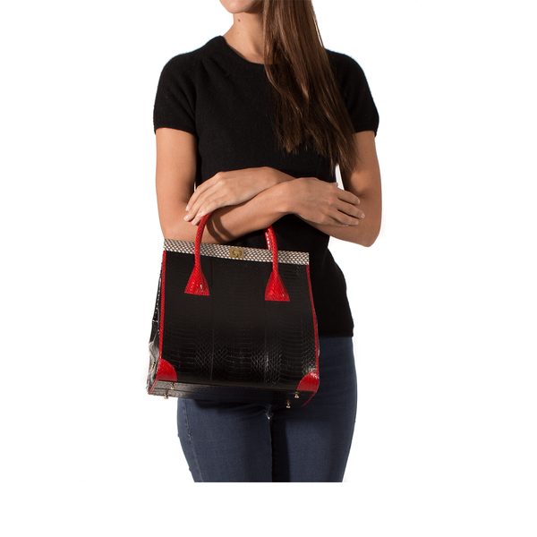 Hand Carry Bag ONG SAN FU Black and Red Cobra