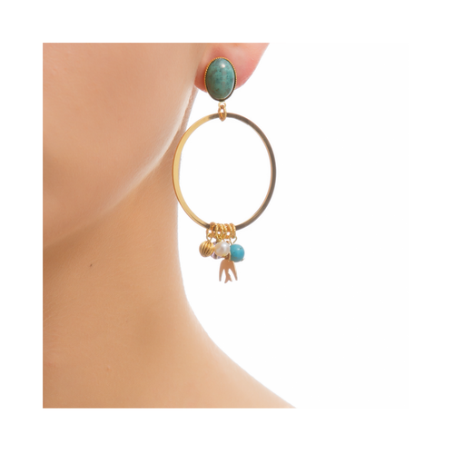 PAOLA Earring Gold-Plated Turquoise