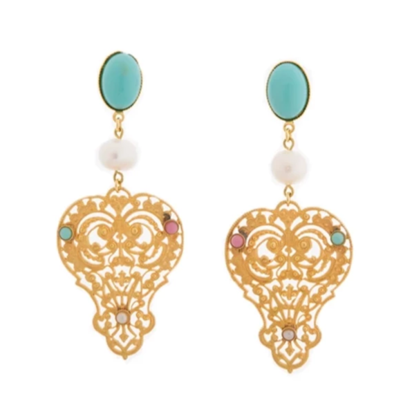 PERSEPHONE earring gold-plated turquoise
