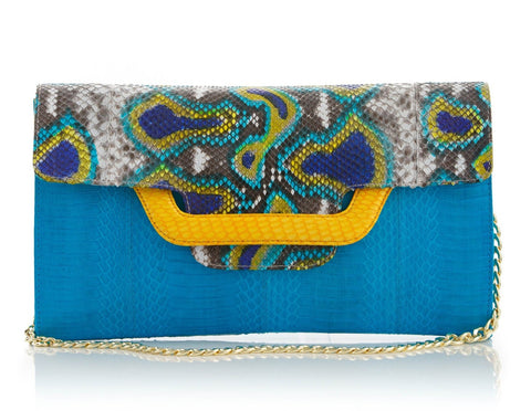ULALA Clutch bag Turquoise with removable strap