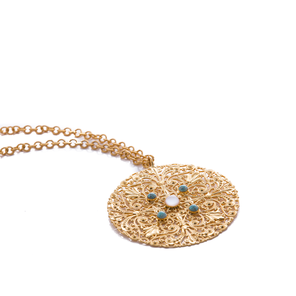 RHEA Necklace Turquoise