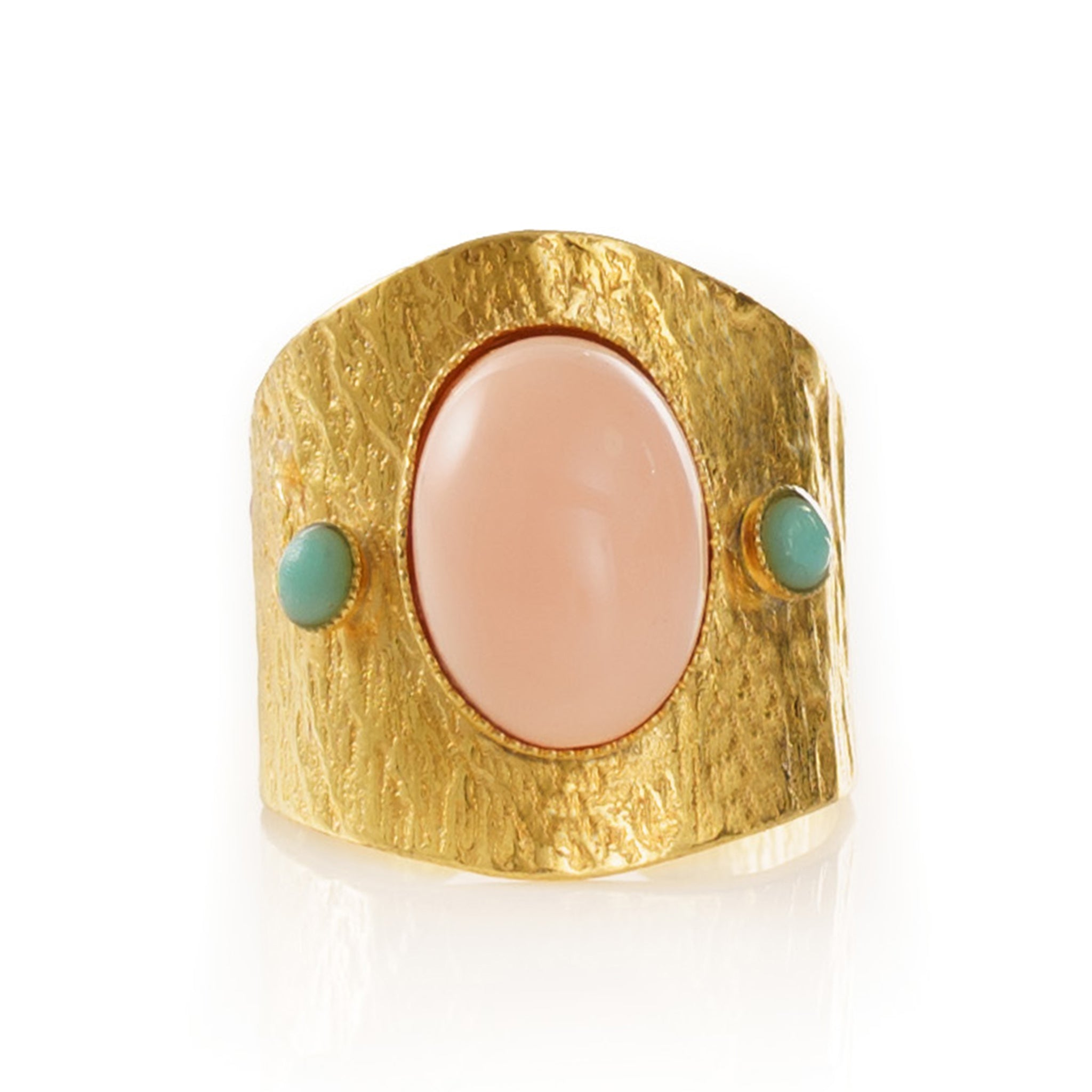 SAHEL Adjustable Ring Coral