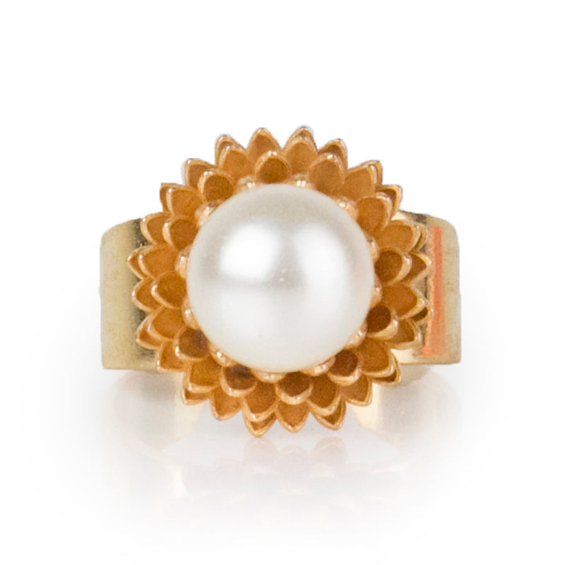 SHEMS adjustable ring with pearl