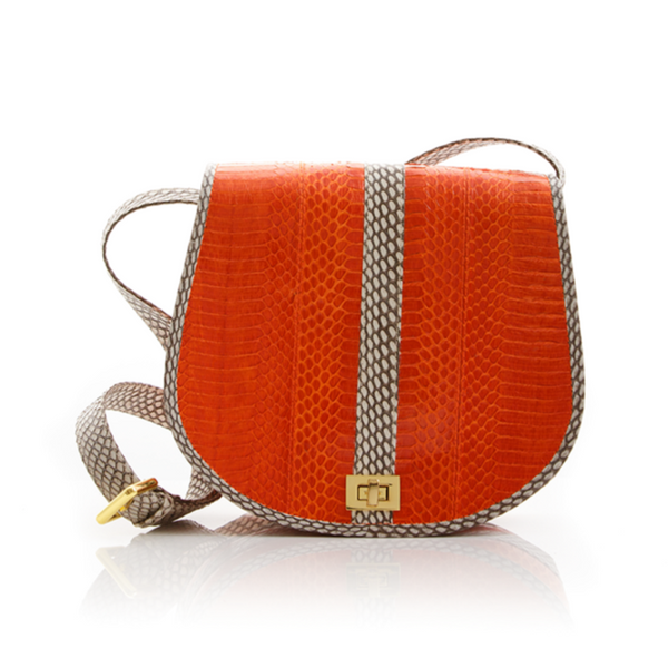 Cross Body Bag SOMINI Orange Cobra