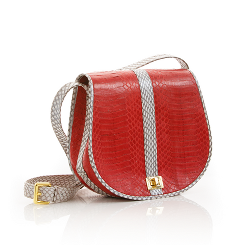 Cross Body Bag SOMINI Red Cobra