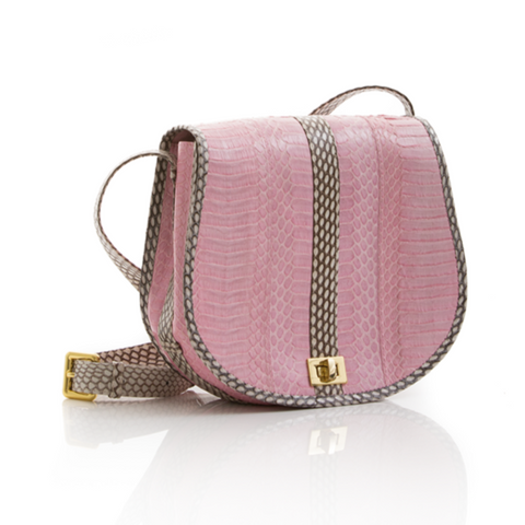 Cross Body Bag SOMINI Baby Pink Cobra
