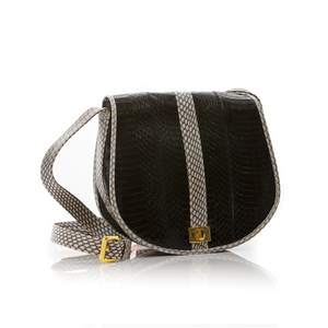 Cross Body Bag SOMINI Black and White Cobra