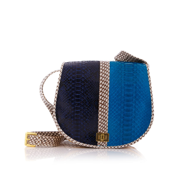 Cross Body Bag SOMINI mixed blue colors