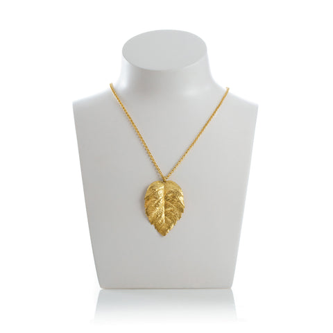 SUZETTE Statement Leave Pendant Necklace