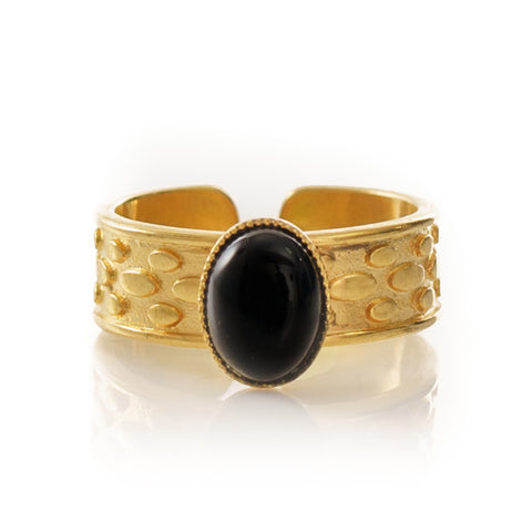 TANIS Adjustable Ring Black