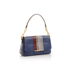 Shoulder bag TULAPA SUI LAH Navy Blue White and Cassis Cobra