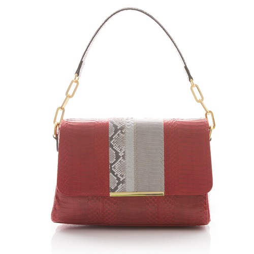 Shoulder bag TULAPA SUI LAH Red, Silver and Open Sky Cobra